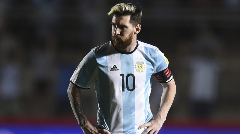 Argentina's captain, Lionel Messi