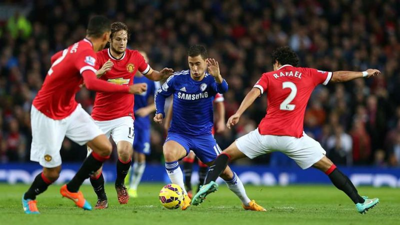 Eden Hazard vs Manchester United in Premier League