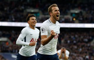 Harry Kane in Tottenham Hotspur in 2018