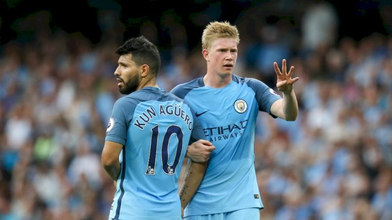 Aguero and De Bruyne in Man City