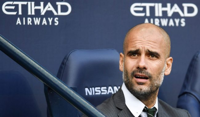 Pep Guardiola in Manchester City