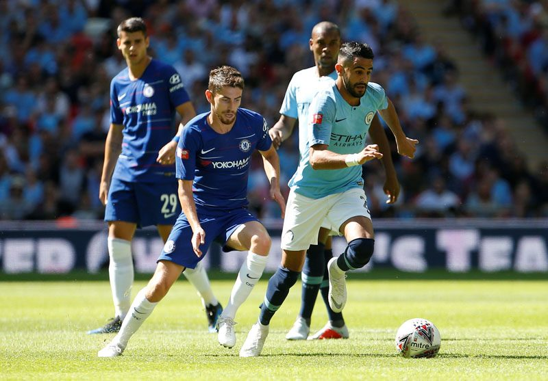 Man City beat Chelsea 2-0 in the Community Shield in 2018