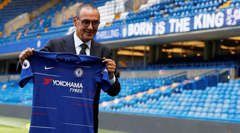 Maurizio Sarri presented as the new Chelsea manager