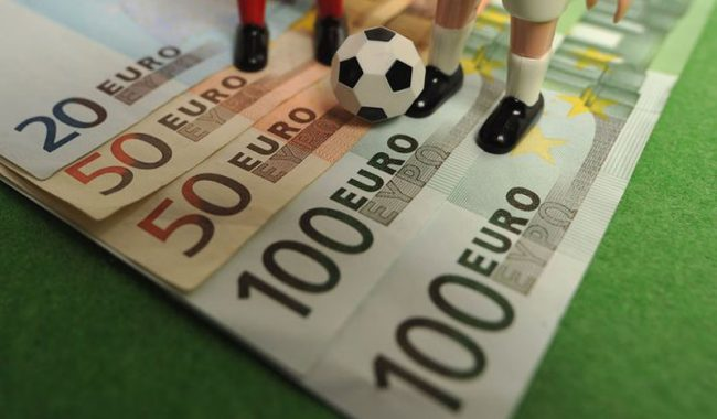 Betting money in football