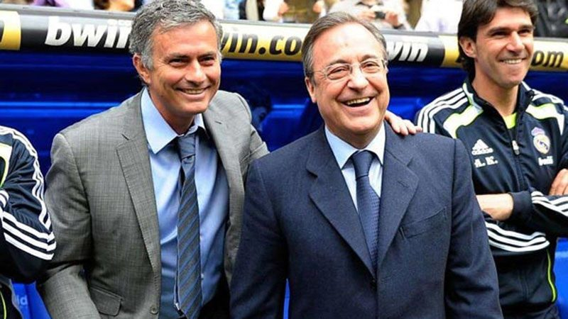 José Mourinho and Florentino Pérez in Madrid