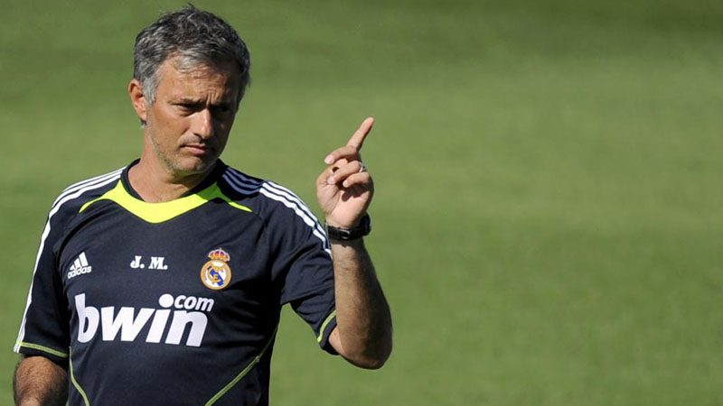 José Mourinho in a Real Madrid training