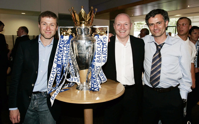 Roman Abramovich, Peter Kenyon and José Mourinho