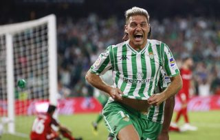 Joaquin after scoring for Betis FC
