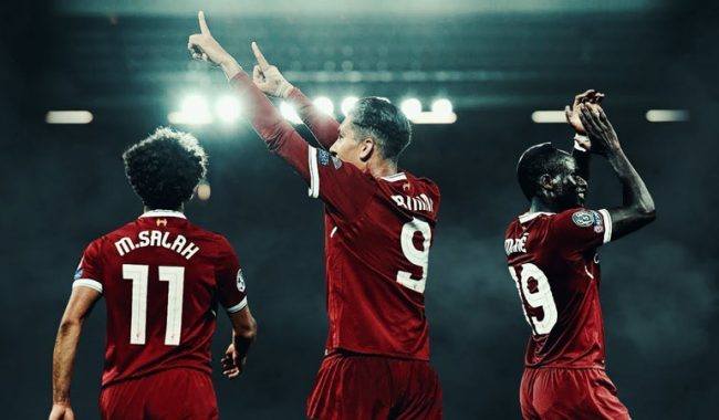 Salah, Firmino and Mané, the Liverpool attacking trio