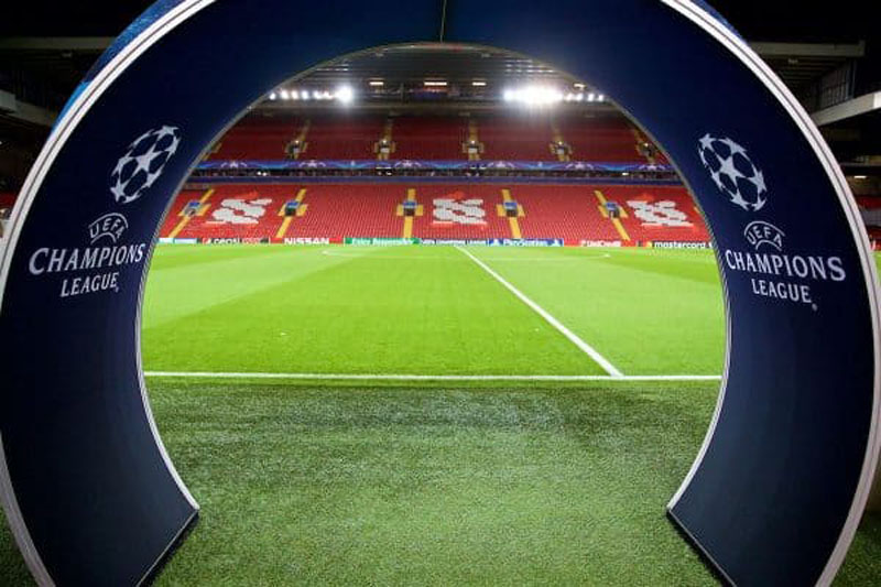 UEFA Champions League pitch entrance, at Anfield Road
