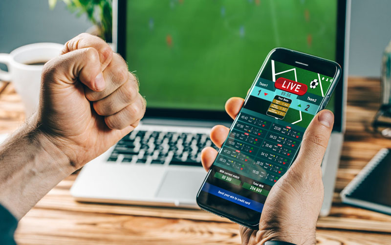 Mobile betting in football